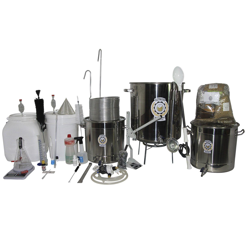 Kit Cervejeiro Inox Até 30L (3 Panelas) - Fabricação Cerveja Artesanal