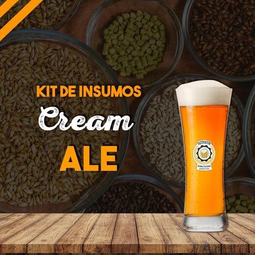 Kit de Insumos Cream Ale 10 Litros + Balde Fermentador  12L (torneira simples e airlock S)
