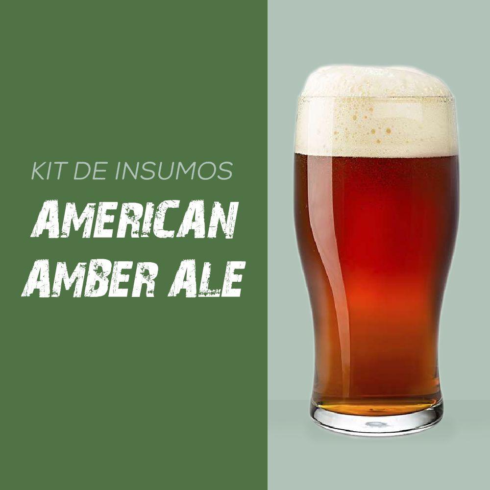 Kit de Insumos Receita Cerveja Artesanal American Amber Ale