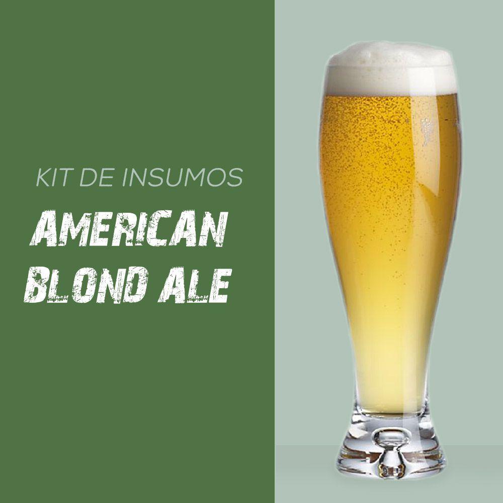 Kit de Insumos Receita Cerveja Artesanal American Blond Ale