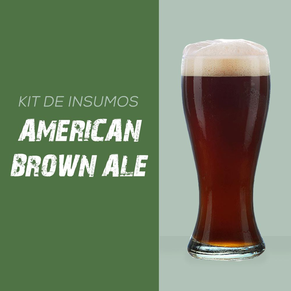 Kit de Insumos Receita Cerveja Artesanal American Brown Ale