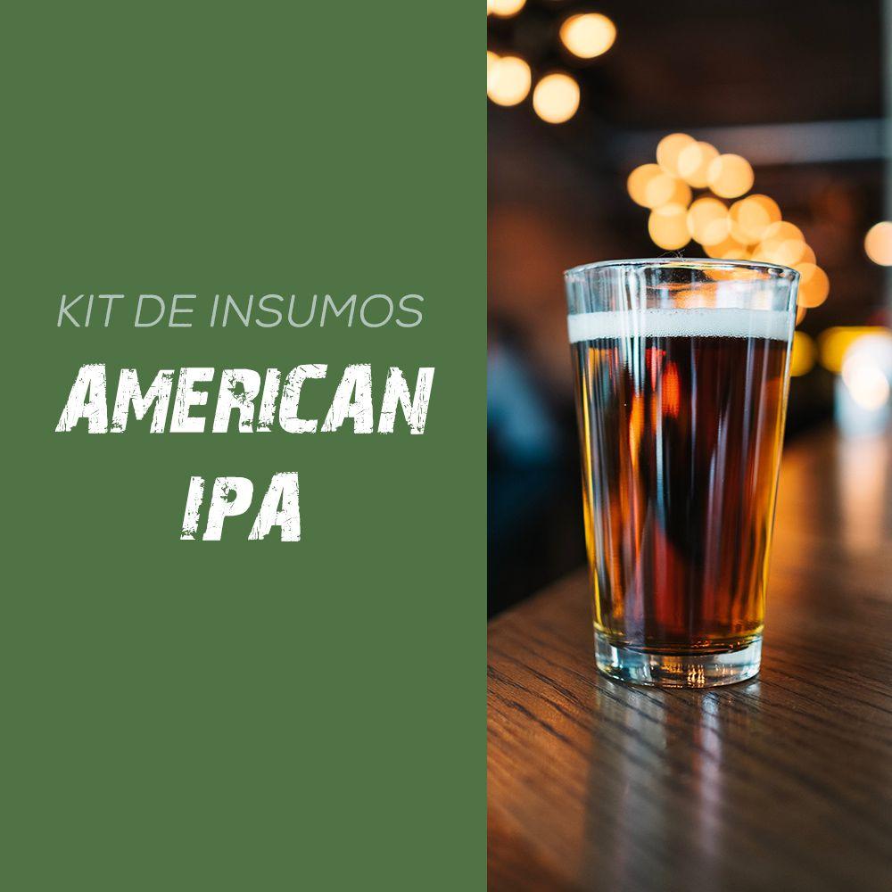 Kit de Insumos Receita Cerveja Artesanal American IPA