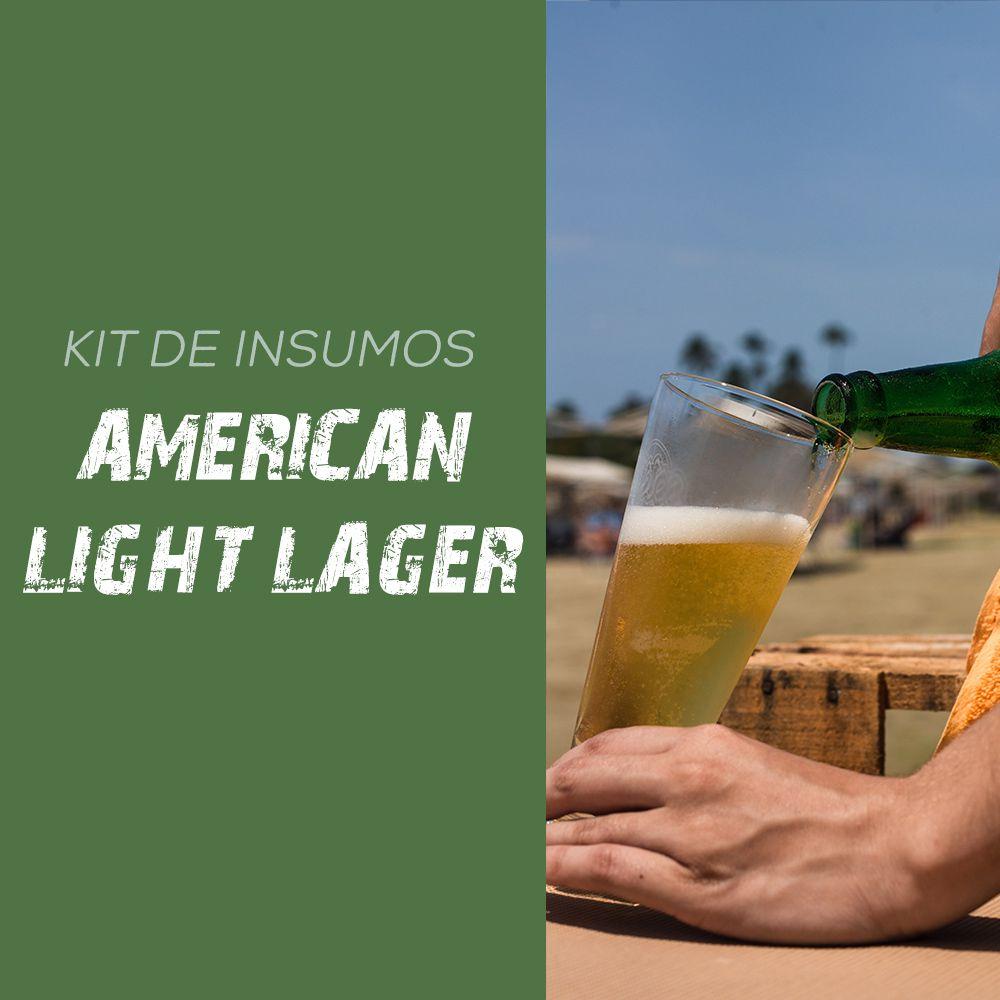 Kit de Insumos Receita Cerveja Artesanal American Light Lager