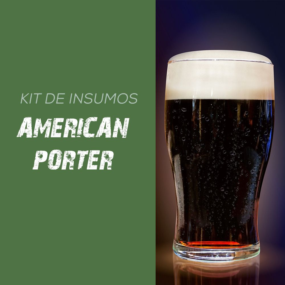 Kit de Insumos Receita Cerveja Artesanal American Porter