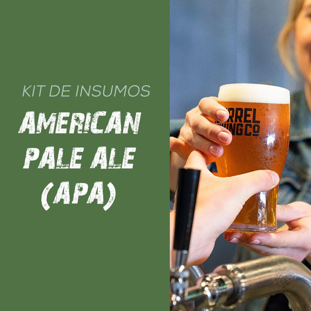 Kit de Insumos Receita Cerveja Artesanal APA - American Pale Ale