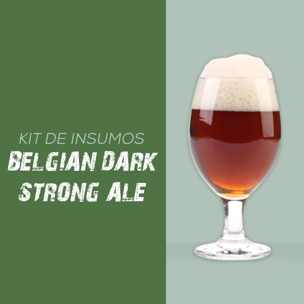 Kit de Insumos Receita Cerveja Artesanal Belgian Dark Strong Ale (Quadrupel)