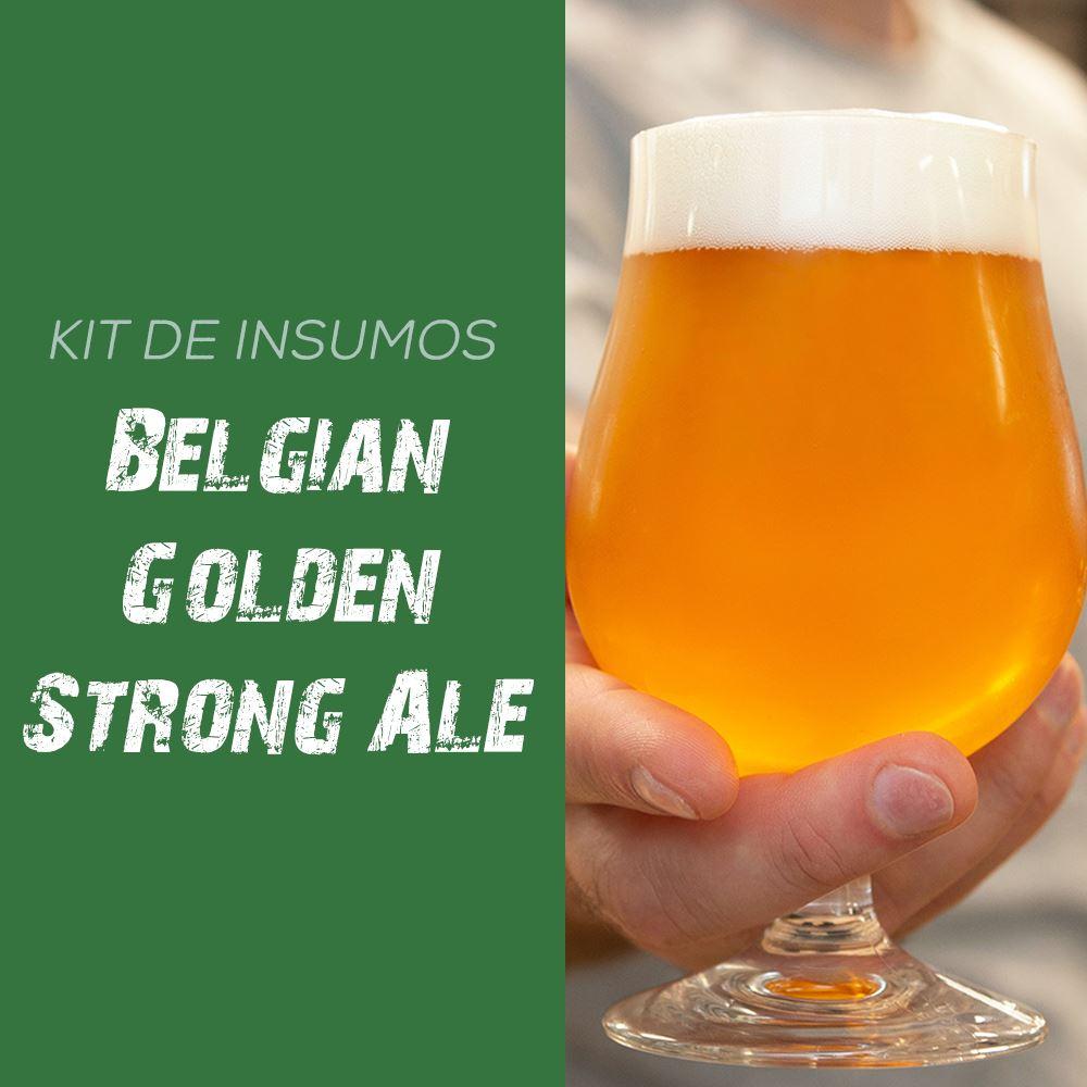 Kit de Insumos Receita Cerveja Artesanal Belgian Golden Strong Ale