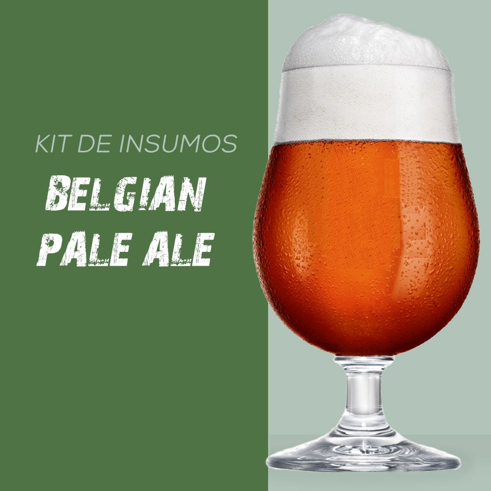 Kit de Insumos Receita Cerveja Artesanal Belgian Pale Ale