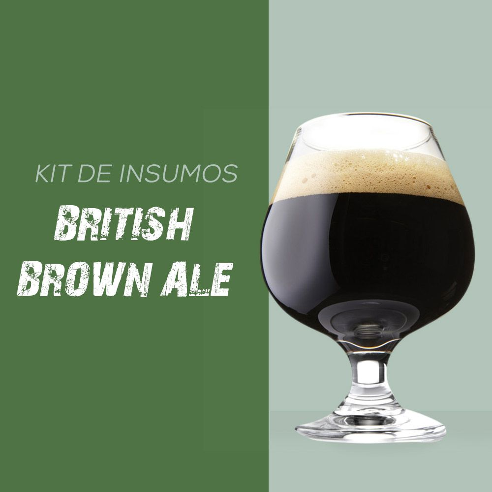 Kit de Insumos Receita Cerveja Artesanal British Brown Ale