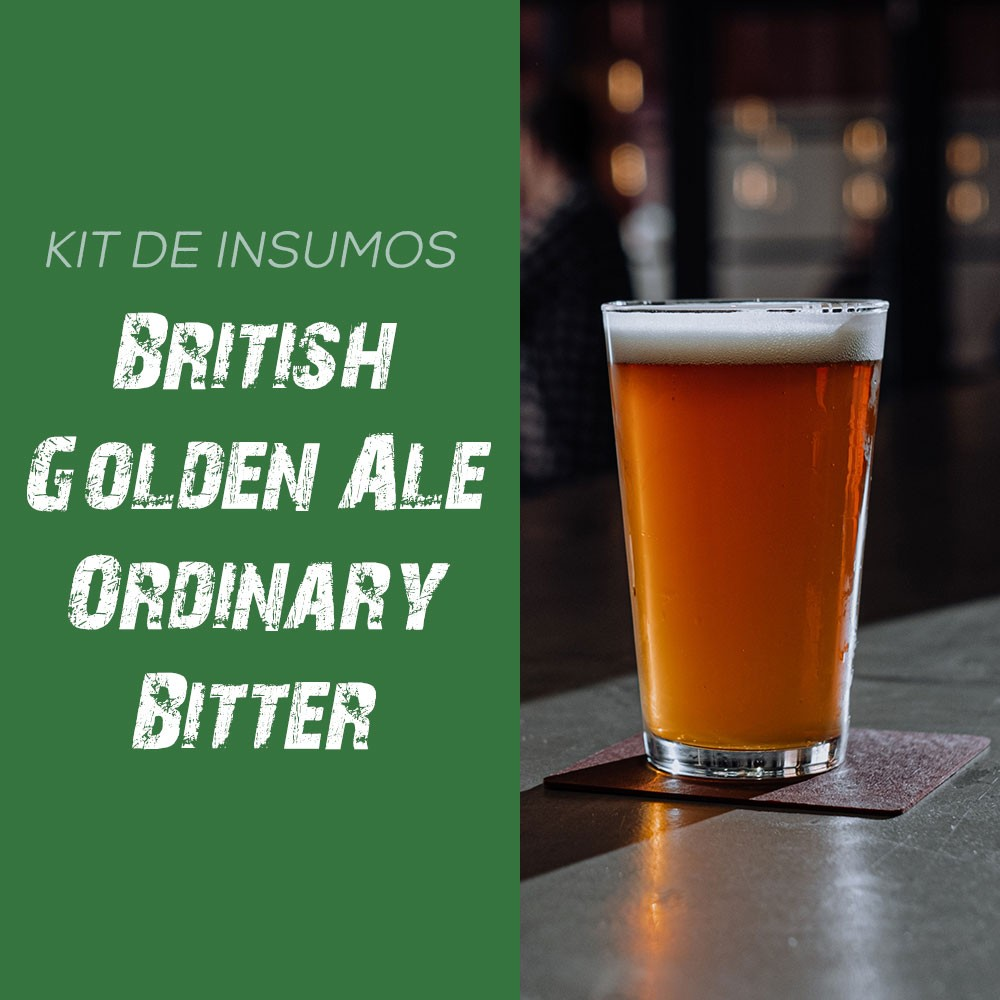 Kit de Insumos Receita Cerveja Artesanal British Golden Ale Ordinary Bitter