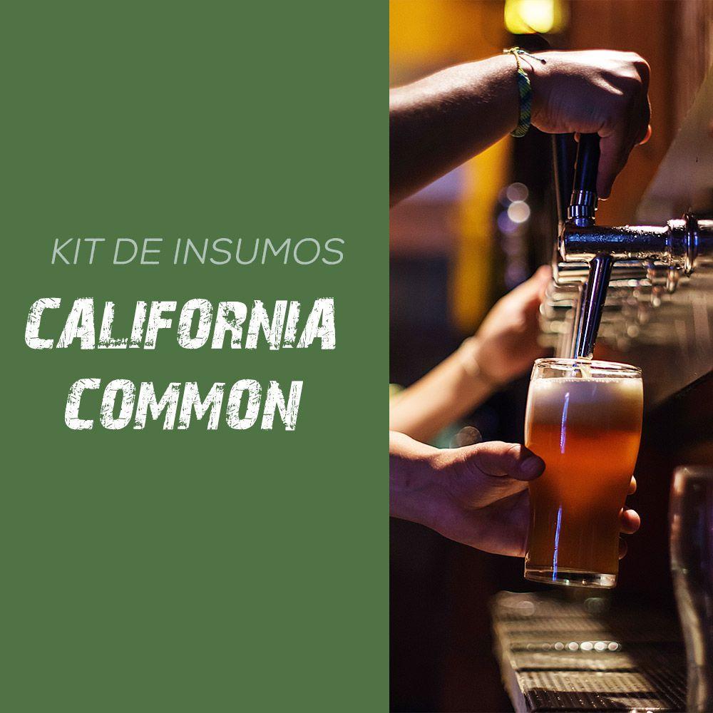 Kit de Insumos Receita Cerveja Artesanal California Common