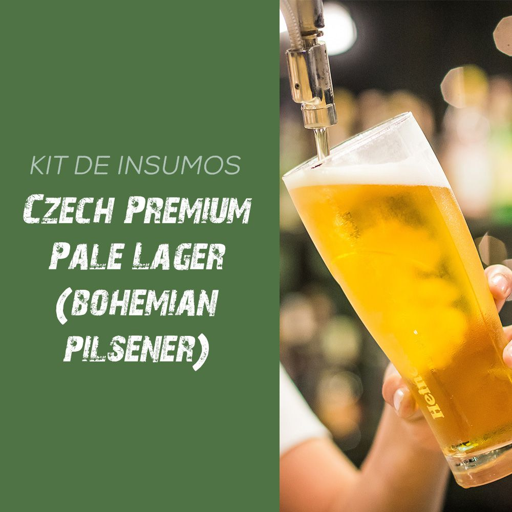 Kit de Insumos Receita Cerveja Artesanal Czech Premium Pale Lager (Bohemian Pilsener)