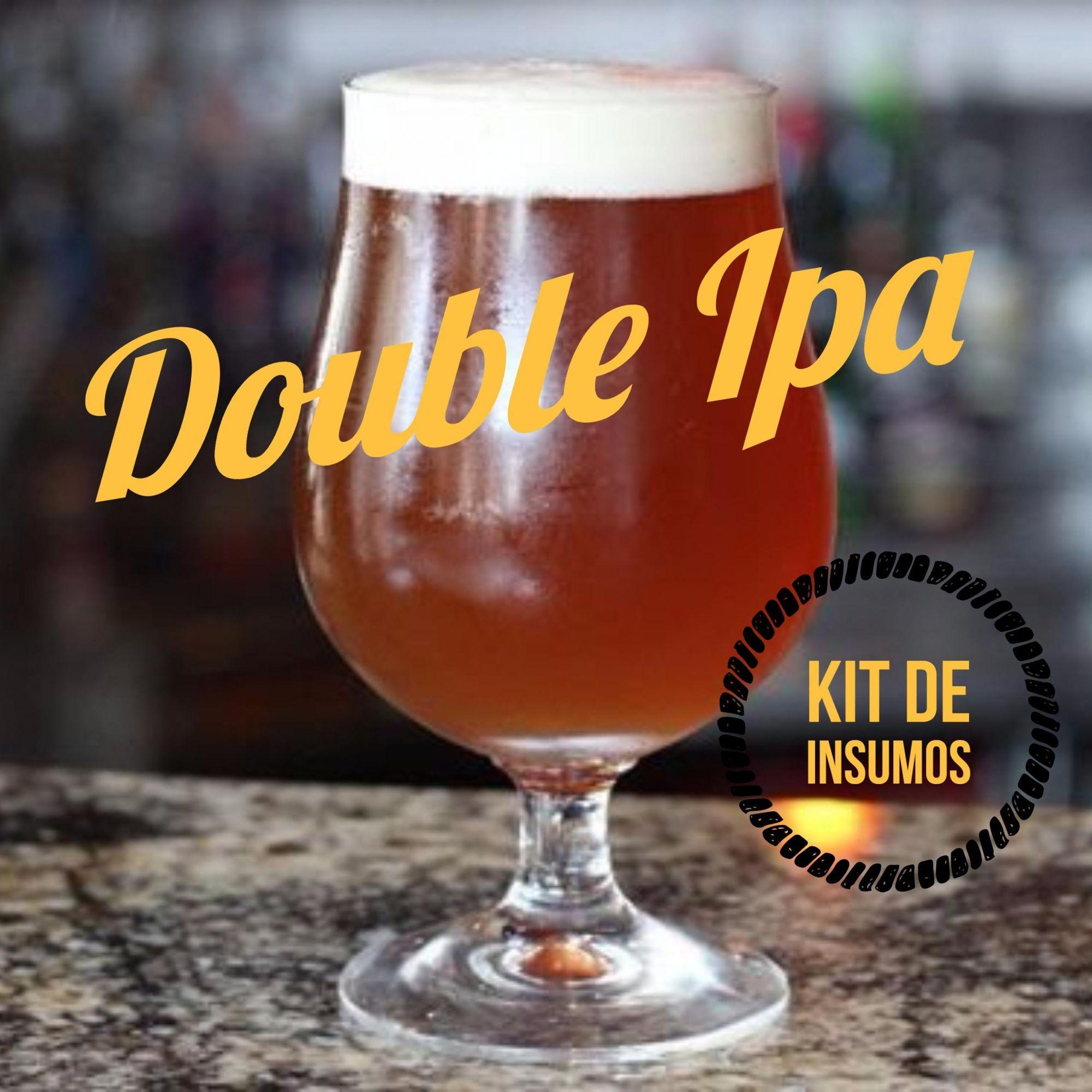 Kit de Insumos Receita Cerveja Artesanal Double IPA