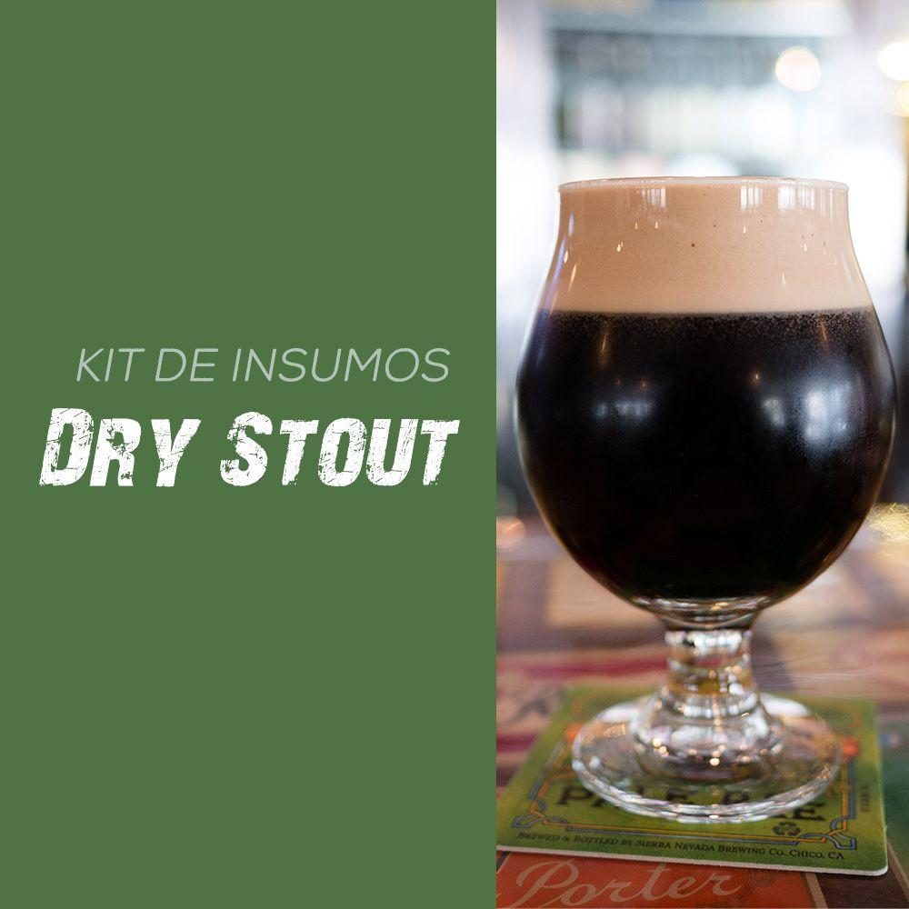 Kit de Insumos Receita Cerveja Artesanal Dry Stout