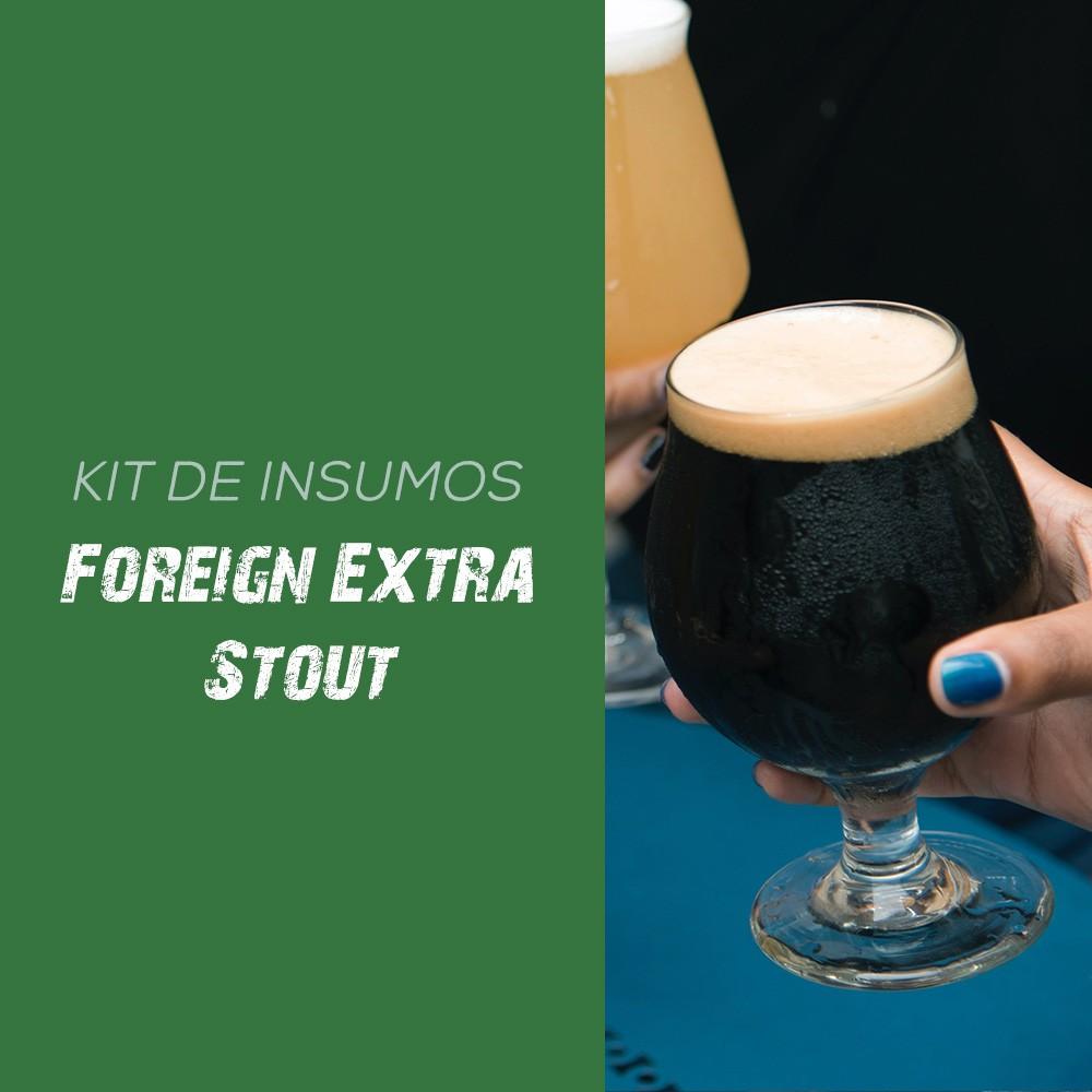 Kit de Insumos Receita Cerveja Artesanal Foreign Extra Stout