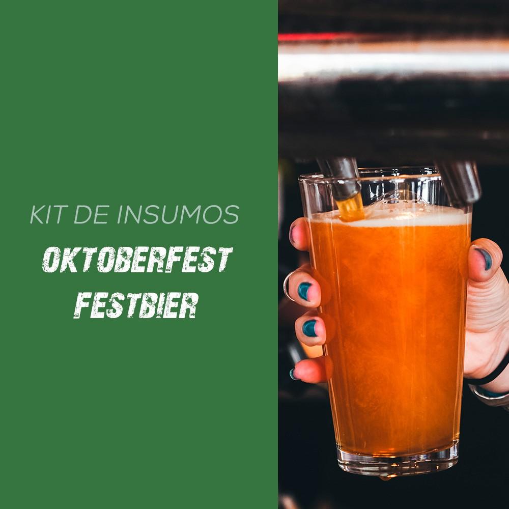 Kit de Insumos Receita Cerveja Artesanal Oktoberfest Festbier