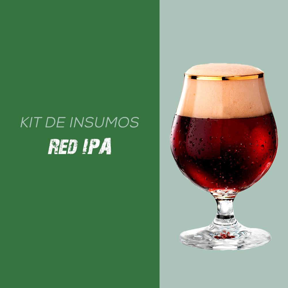 Kit de Insumos Receita Cerveja Artesanal Red IPA