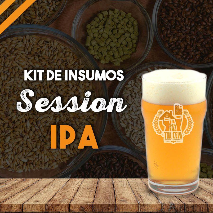 Kit de Insumos Receita Cerveja Artesanal Session IPA