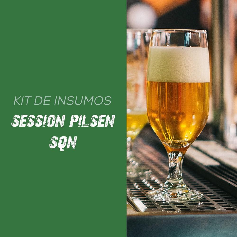 Kit de Insumos Receita Cerveja Artesanal Session Pilsen - SQN