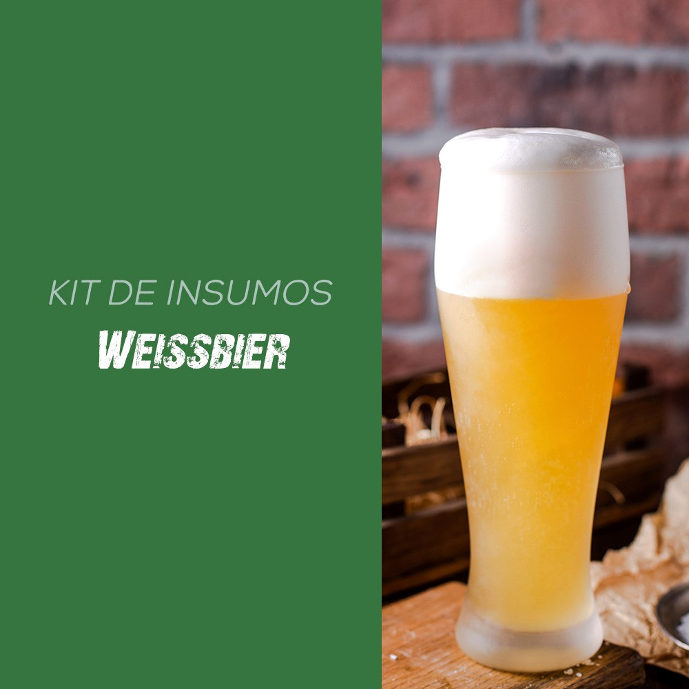 Kit de Insumos Receita Cerveja Artesanal Weiss (Hefe Weizen)