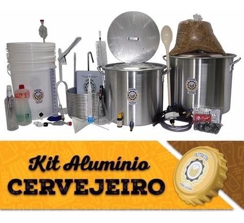 Kit Equipamentos Cerveja 40l C/ 2 Fogareiros 12c + Moedor