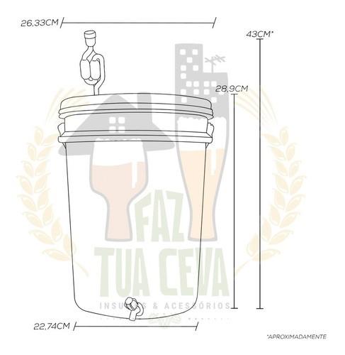 Kit Insumos Receita Cerveja Pilsen 10l + Balde Fermentador