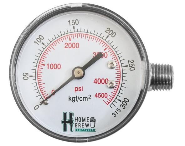 Manometro De Alta Para Reguladoras De CO2 Chope (Pressão do Cilindro)