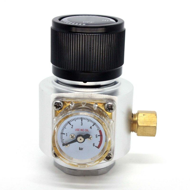 Mini Reguladora Profissional De CO2 Para Cilindros De 16/32g Com Rosca 3/8