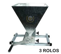 Moedor de 3 Rolos para Malte Completo (Base, Funil e Manivela)
