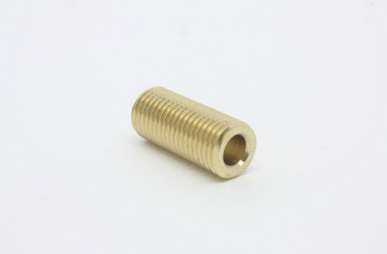 Niple 7/16 Adaptador Para Mini-Regulador de Co2- Comprimento 25mm Latão