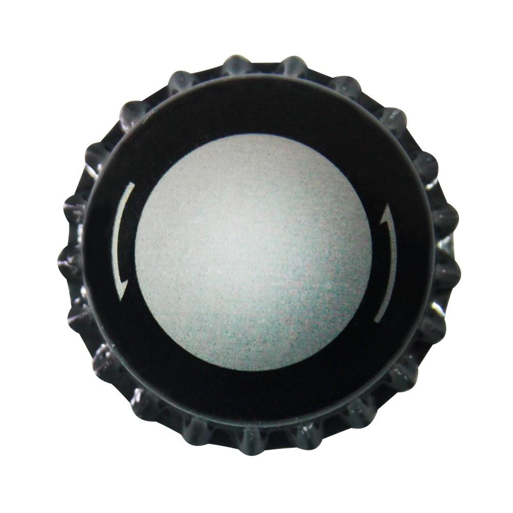Tampinha Twist-Off - Metálica com Borda Preta  (100 Unid.)