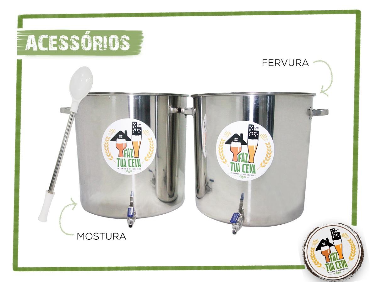 Kit Cervejeiro Inox Até 30L - Fabricação de Cerveja Artesanal