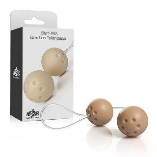 Conjunto 2 bolas pompoar com alça em silicone - Marfim