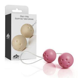 Conjunto 2 bolas pompoar com alça em silicone - Rosa