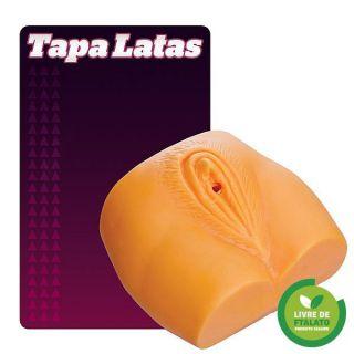 Tapa lata em formato de vagina - diversas cores