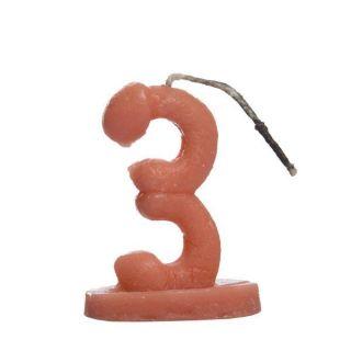 Vela no formato de número estilizado como pênis - número 3