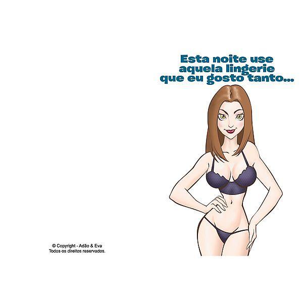 Cartão animado - Esta noite use aquela lingerie que eu gosto...