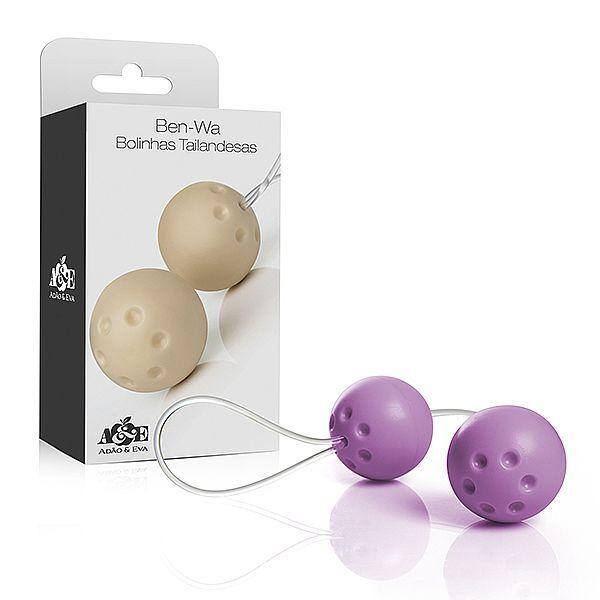 Conjunto 2 bolas pompoar com alça em silicone - Lilás