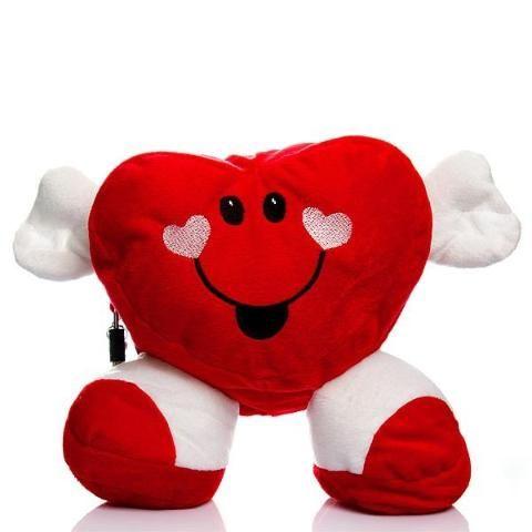 Coração em pelúcia - compartimento secreto e cadeado - penis tortinho