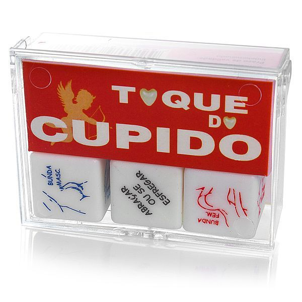 Dado Toque do Cupido - caixa com 3 unidades