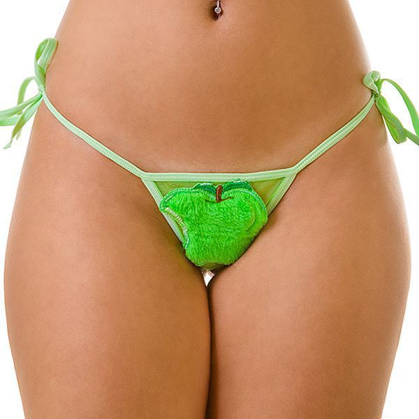 Tanga com detalhe e aroma - maçã verde