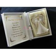 Bíblia com Anjo de Cristal Batizado
