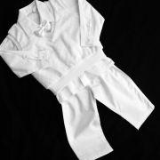 Conj. Colete plush, camisa e calça menino batizado