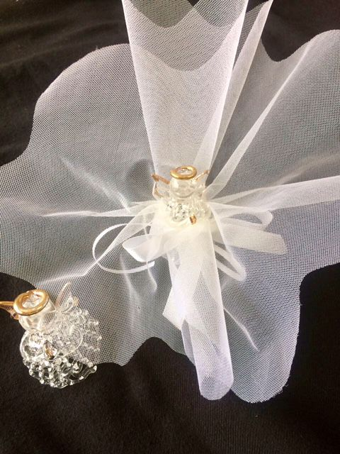 Lembrancinha Batizado ou Comunhão Anjo cristal