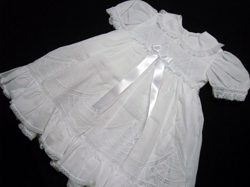 Vestido Cambraia  Brunna Batizado