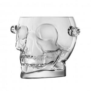 Balde Gelo De Vidro Borossilicato Skull Transparente 1600Ml - Urban