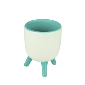 Cachepot de Cerâmica Trippled Feet Tiffany 13,5 cm- Urban