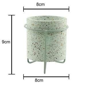 Cachepot de Concreto com Suporte Granilite Metal Stand 9 cm - Urban