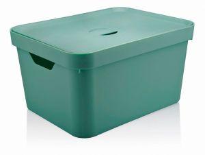 Caixa Organizadora Cube G Com Tampa 32L Verde Menta - Ou