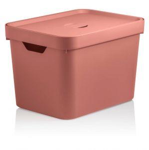 Caixa Organizadora Cube M 18 L Com Tampa Terracota - Ou